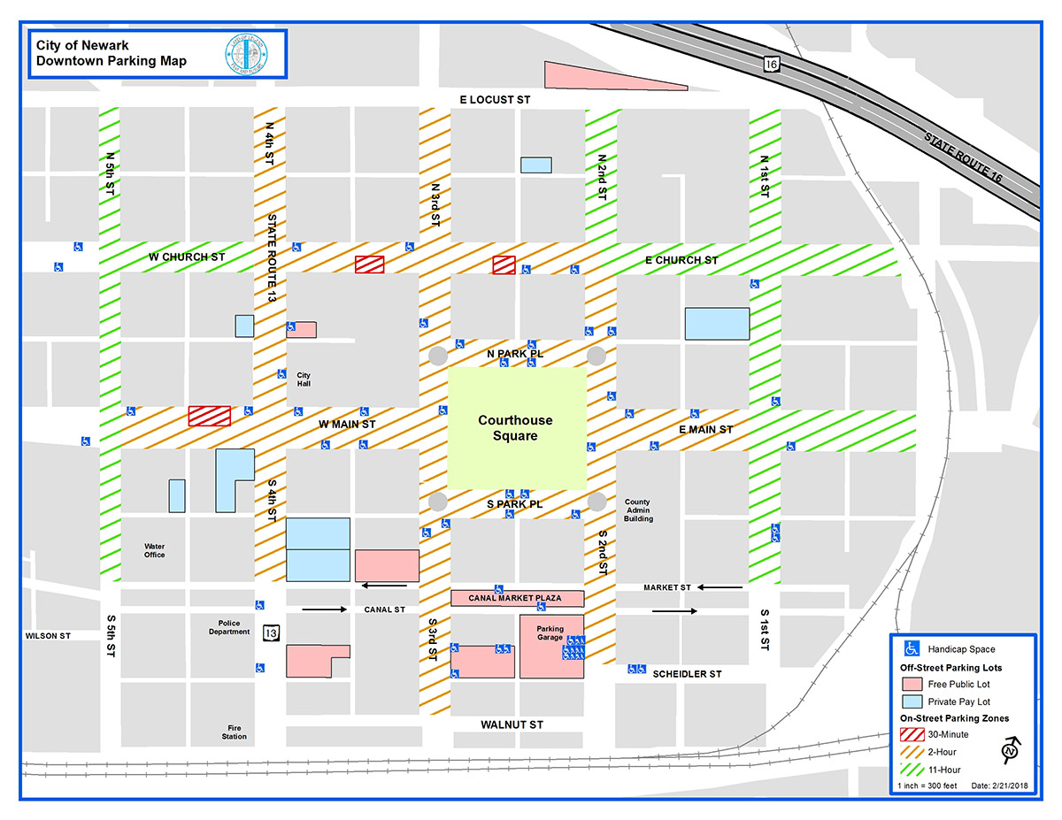 Downtown Newark Area Location Map